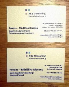 Carti de vizita craiova | printuri craiova | tiparituri craiova | fonduri structurale craiova | acz consulting craiova | publicitate craiova