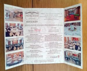 Flyere craiova | printuri craiova | tiparituri craiova | restaurant noblesse events craiova | oferta meniu restaurant noblesse events craiova | publicitate craiova