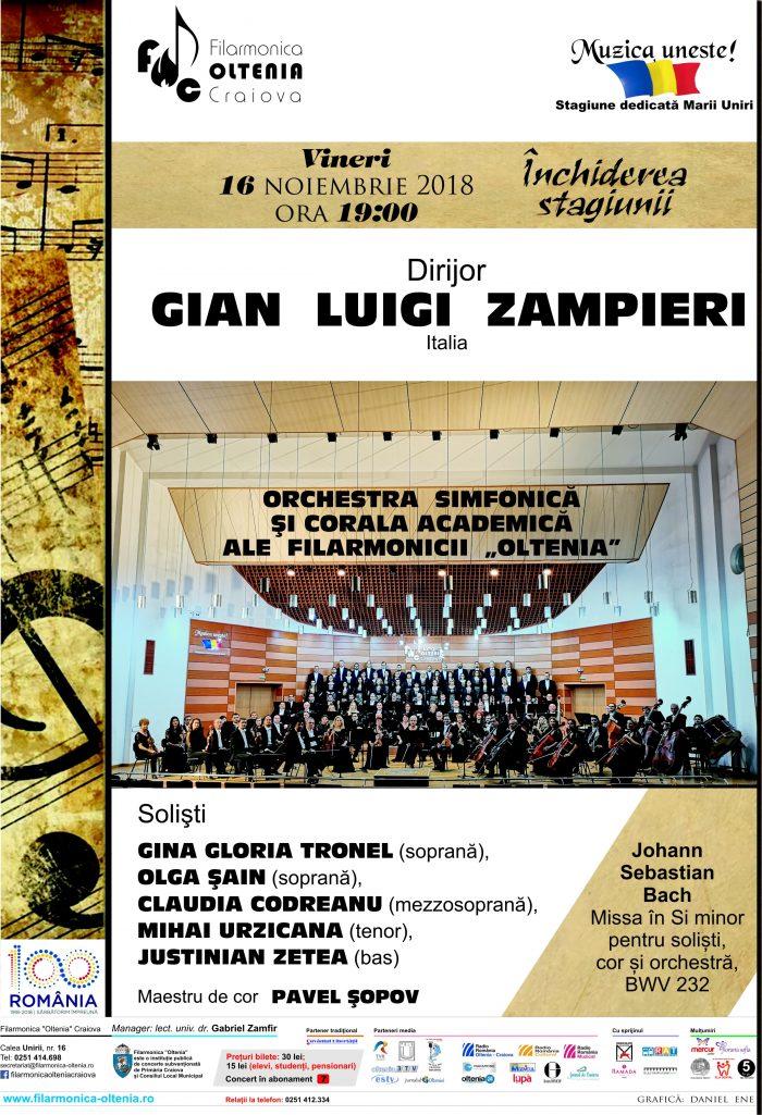 Filarmonica Oltenia Craiova Missa în Si minor de Bach-Gian-Luigi-Zampieri-Afis-Concert-Agentia-de-Publicitate-Camera-Media-Craiova
