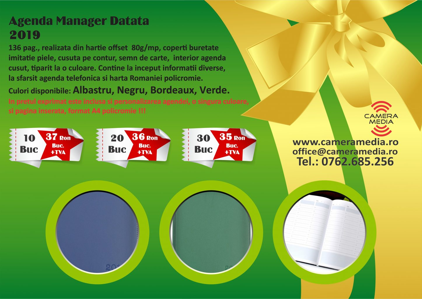 Agenda Manager Datata Personalizata 2019 Craiova Tiparituri Craiova Promotionale Craiova Calendare Personalizate Craiova 2019 agende Personalizate Craiova 2019