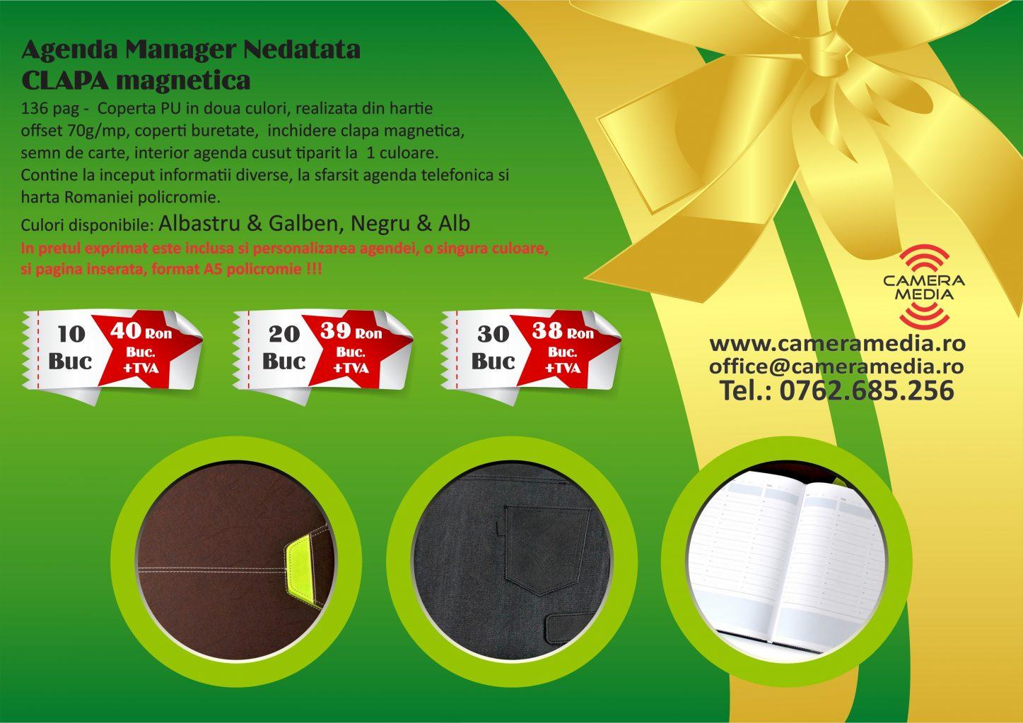 Agenda Manager Nedatata Personalizata 2019 Craiova Tiparituri Craiova Promotionale Craiova Calendare Personalizate Craiova 2019 agende Personalizate Craiova