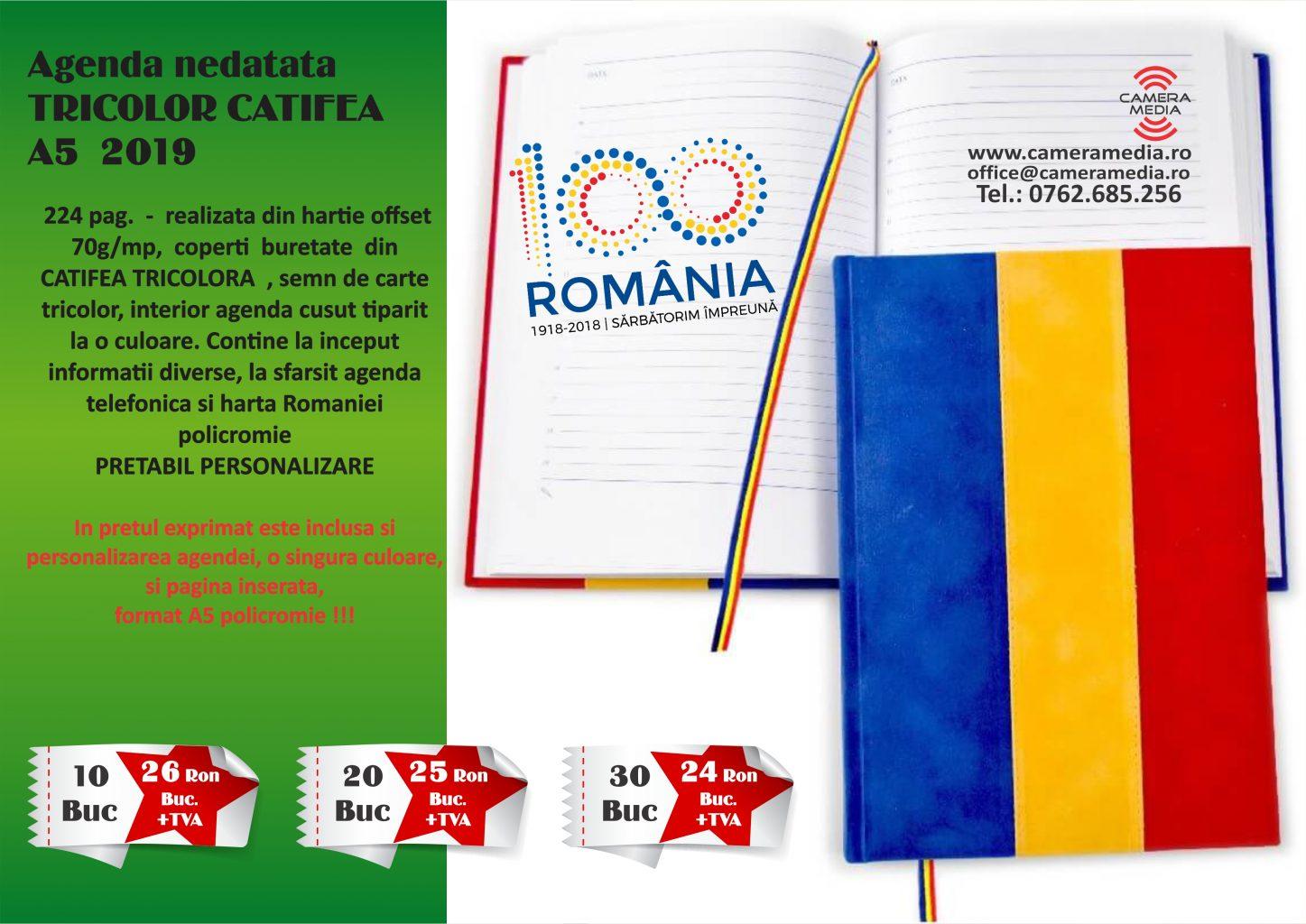 Agenda nedatata Tricolor A5 Craiova Tiparituri Craiova Promotionale Craiova Calendare Personalizate Craiova 2019 agende Personalizate Craiova 2019
