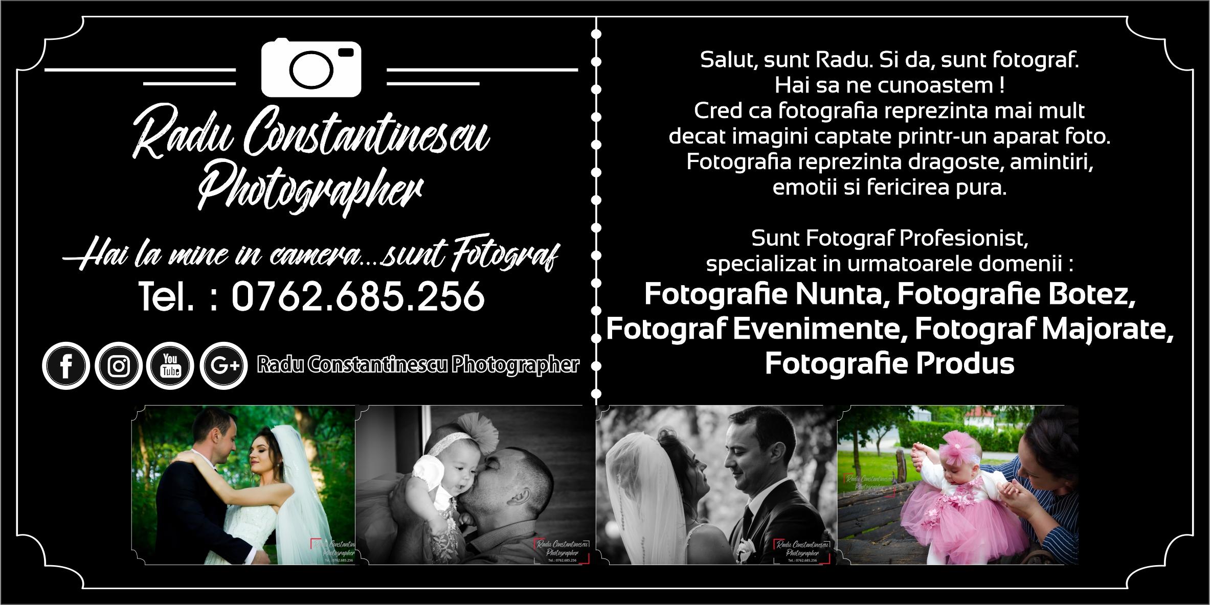 Oferta Fotograf Nunta, Botez, Majorate, Evenimente Craiova, Slatina, Caracal, Calafat, Severin, Taragu Jiu, Bals