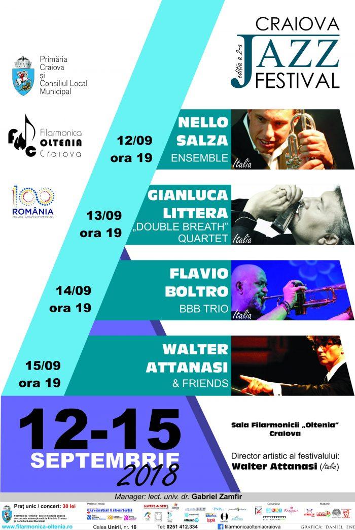 Craiova Jazz Festival 2018 Rezisize Afis | Agentie de publicitate Camera Media Craiova