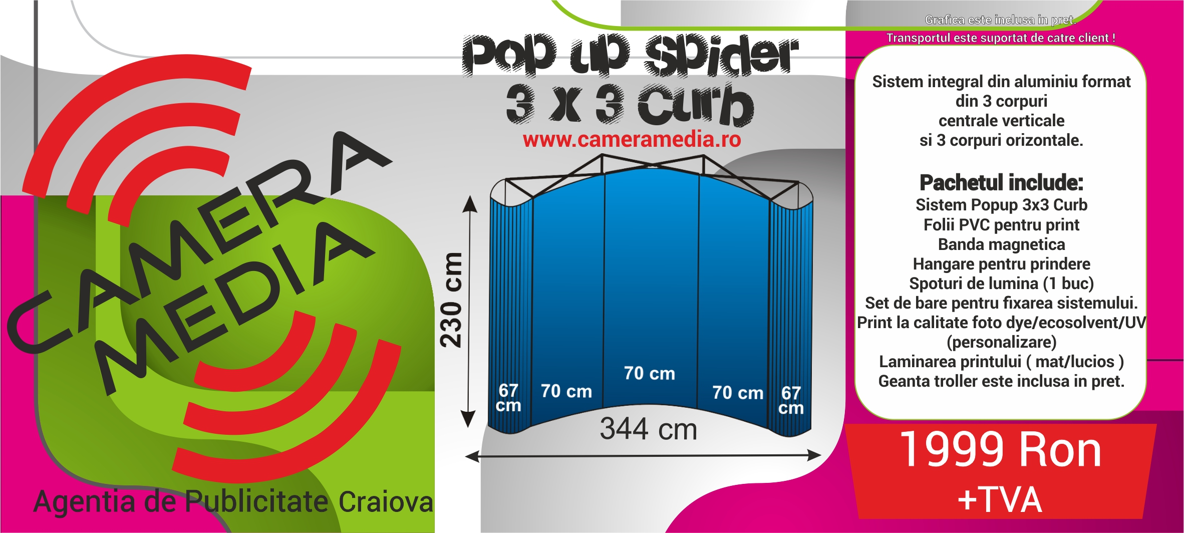 Spider Pop Up Craiova Camera Media Publicitate Craiova