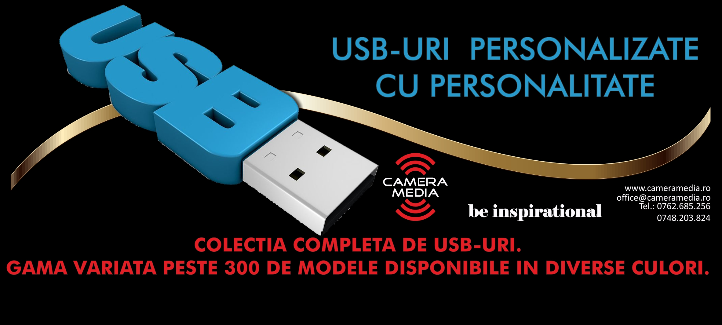 Footer USB uri  Personalizate-fb Mode