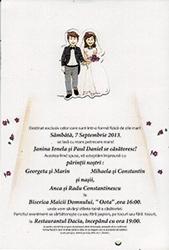 Printuri craiova | tiparituri craiova | Invitatii nunta nunta craiova | invitatii personalizate nunta craiova | publicitate craiova