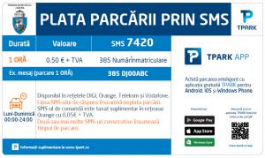 Plata Parcare prin SMS Craiova | TPARK Craiova | PICONET Craiova | plata parcare sms | aplicatie TPARK Craiova | Primaria Municipiului Craiova | Agentie de publicitate Camera Media Craiova | Publicitate Craiova