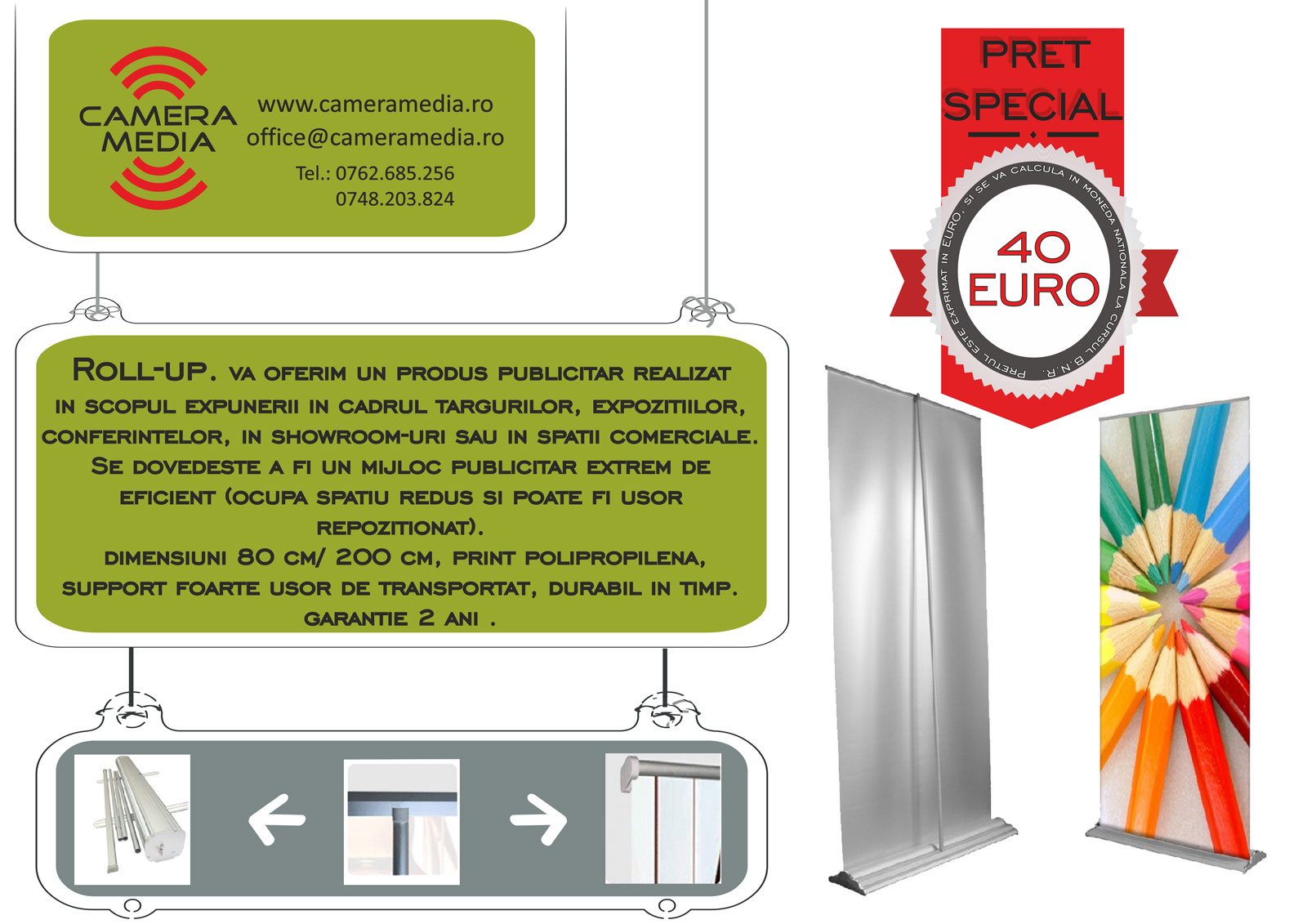 Roll-up banner – sistem expozitional portabil