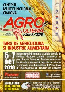 AGRO OLTENIA | Targ de Agricultura si Industrie Alimentara | Editia II 5 - 7 Octombrie 2018 | Agentie de publicitate Camera Media Craiova