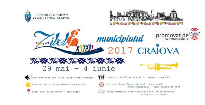 Afis Zilele Municipiului Craiova 2017 | Agentie de publicitate Camera Media Craiova